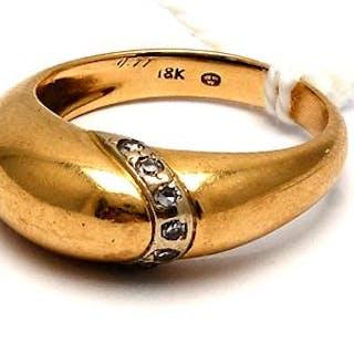 Ring med diamanter 18K 3,4g Ø17