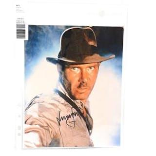 Fotografi, signerat av Harrison Ford, med äkthetsintyg