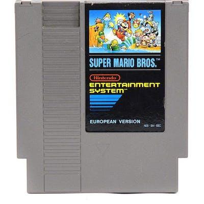 Spel, Nintendo, Super Mario Bros, utan fodral