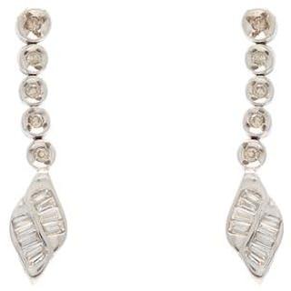 Örhängen vitguld 18K 4,4g med diamanter