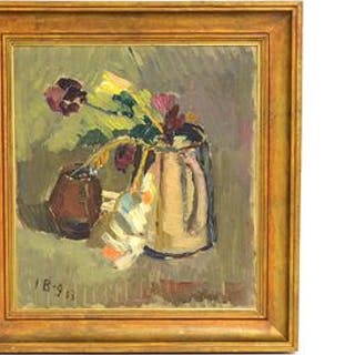 Iwan Broberg, oljemålning på pannå