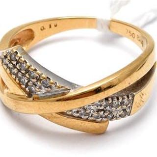 Ring 18K med diamanter 15 x ca 0,01ct Ø 17¼