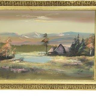 R Lennartsson, oljemålning