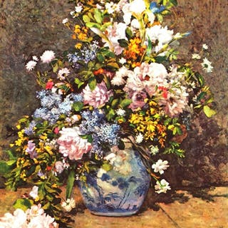 RENOIR ** STILL LIFE WITH LARGE VASE ** CANVAS