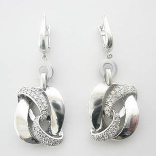 14K DIAMOND EARRINGS .63 C.T.W.