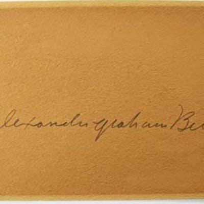 ALEXANDER GRAHAM BELL AUTOGRAPH