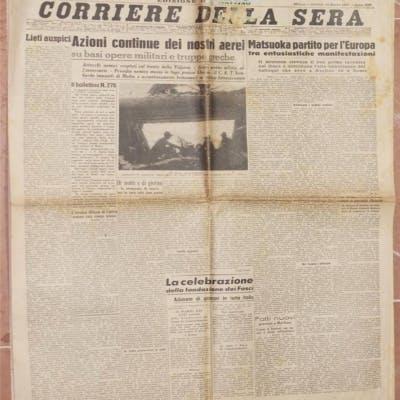 CORRIERE DELLA SERA MILANO GIOVEDI 13 MARZO 1941 - ANNO XIX