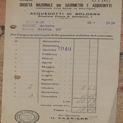SOCIETA NAZIONALE PER GASOMETRI E ACQUEDOTTI ANONIMA CON SEDE IN BOLOGNA