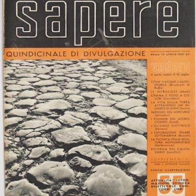 SAPERE ROMA 15 APRILE 1937
