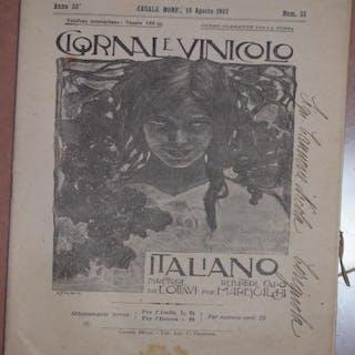 ANNO 33 CASALE MONF. 18 AGOSTO 1907 GIORNALE VINICOLO ITALIANO