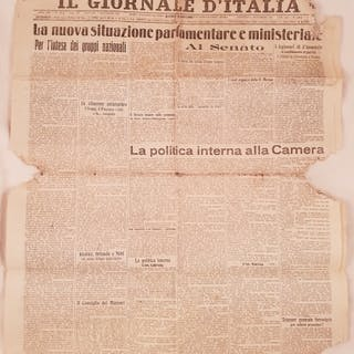 IL GIORNALE D'ITALIA GIOVEDI 1 DICEMBRE 1921