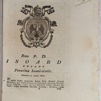 ISOARD DECANO PERUSINA IMMISSIONIS VENERIS 11 JUNII 1824