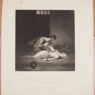 THE PRISONER OF CHILLON FROM A PAINTING BY HENRY CORBOULD