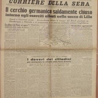 CORRIERE DELLA SERA MILANO, DOMENICA 26 MAGGIO 1940 - ANNO XVIII