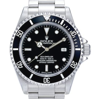 ROLEX  SEA-DWELLER, REFERENCE 16600 A STAINLESS STEEL WRISTWATCH WITH