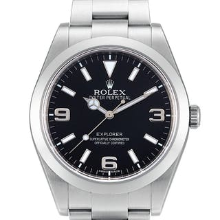 ROLEX  EXPLORER, REFERENCE 214270 A STAINLESS STEEL WRISTWATCH WITH