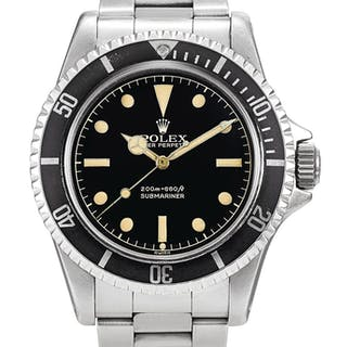 ROLEX  SUBMARINER, REFERENCE 5513 A STAINLESS STEEL WRISTWATCH WITHGILT