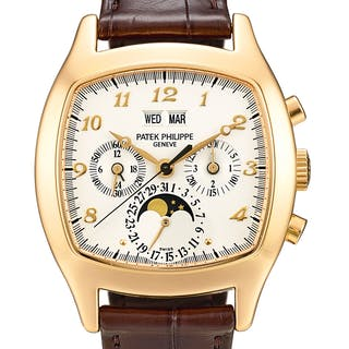 PATEK PHILIPPE  REFERENCE 5020 A PINK GOLD PERPETUAL CALENDAR CHRONOGRAPH