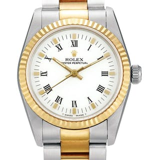 ROLEX  DATEJUST, REFERENCE 67513 A YELLOW GOLD AND STAINLESS STEEL