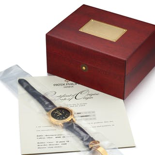 PATEK PHILIPPE  REFERENCE 5070 A YELLOW GOLD CHRONOGRAPH WRISTWATCH
