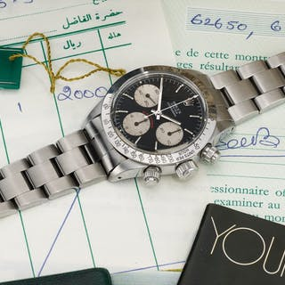 ROLEX  DAYTONA BIG RED, REFERENCE 6265 STAINLESS STEEL CHRONOGRAPH