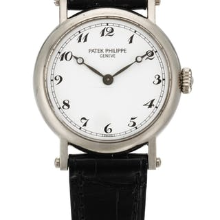 PATEK PHILIPPE  OFFICER'S WATCH, REFERENCE 4860 LADY'S WHITE GOLD