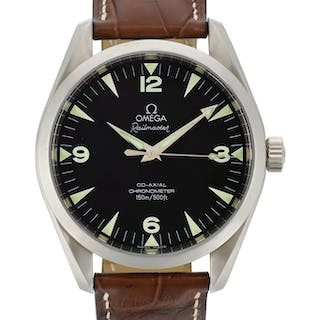 OMEGA  RAILMASTER, REFERENCE 2502.52 STAINLESS STEEL WRISTWATCH CIRCA 2010