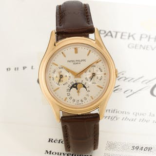 PATEK PHILIPPE  REFERENCE 3940R PINK GOLD PERPETUAL CALENDAR WRISTWATCH