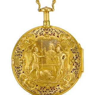 Gaudin, F. - A FINE GOLD, GILT-METAL AND LEATHER COVEREDTRIPLE CASED