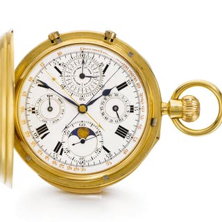 Carrington & Co - A VERY FINE ANDHEAVY GOLD HUNTING CASED PERPETUAL