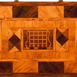 AN EARLY VICTORIAN WALNUT PARQUETRY SMALL TABLE, CIRCA 1840  