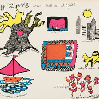 NIKI DE SAINT PHALLE  NINE SCREENPRINTS