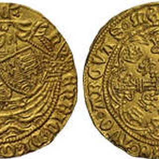 Henry VI (1422-61) gold Half-Noble Annulet issue Tower Mint.