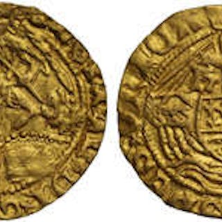 Henry VII (1485-1509) gold Half-Angel class I.