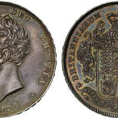 George IV (1820-30) silver proof Crown 1826 PF63.