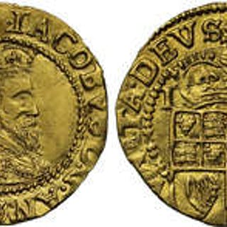 James I (1603-25) gold Halfcrown first coinage initial mark thistle.