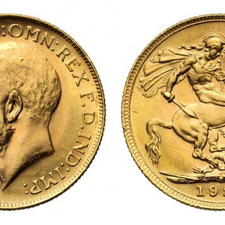 George V 1921 P Sovereign, Perth Mint