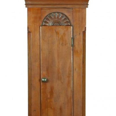 A Tall Case Cuckoo Clock, Litchfield, CT, c.1820 with Orignal Eight-Day