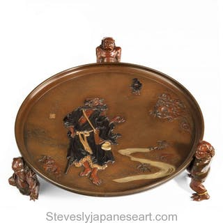 HIGH QUALITY HUMOROUS ONI TRAY -ARTIST SIGNED FOR THE MIYAO EISUKE COMPANY