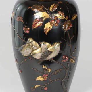 HIGH QUALITY JAPANESE MIXED METAL VASE SUZUKI CHOKICHI – KAKO