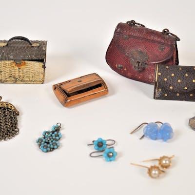 Miniatures pour parisienne : Sac à main en croûte de cuir