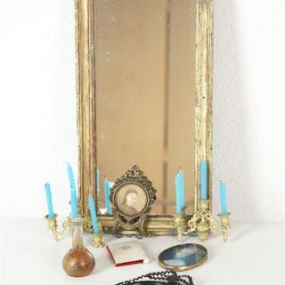 Accessoires miniatures : Vase en verre irisé