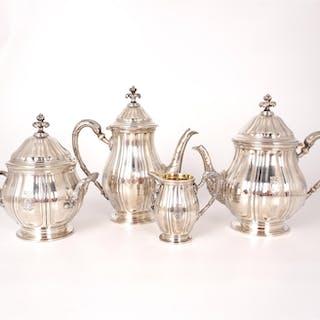 Service à thé et à café 4 pièces en argent