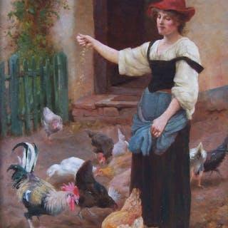 William Teulon Blandford Fletcher (1858–1936) - Feeding Time