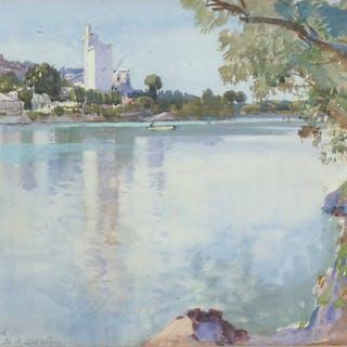 Samuel John Lamorna Birch, RA, RWS (1869-1955) - The Rhone at Avignon