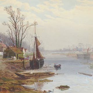 Charles Brooke Branwhite, ARWS (1851-1921) - A Winter Morning near