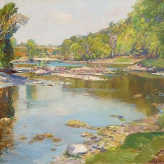 Samuel John Lamorna Birch, RA, RWS (1869-1955) - The Tay in June at Taymouth