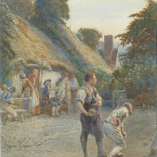 Henry Reynolds Steer (1858-1928) - Toil Remitting Lends Itself to Play