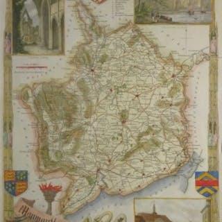 Thomas Moule - Antique Map by Thomas Moule