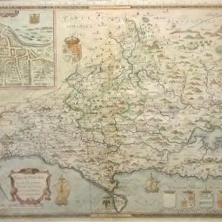 Saxton/Lea - Antique Map by Saxton/Lea